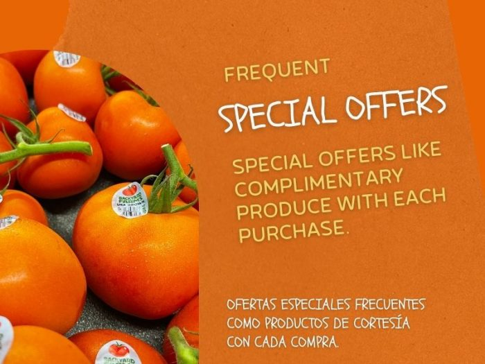 Special offers for organic grocery store