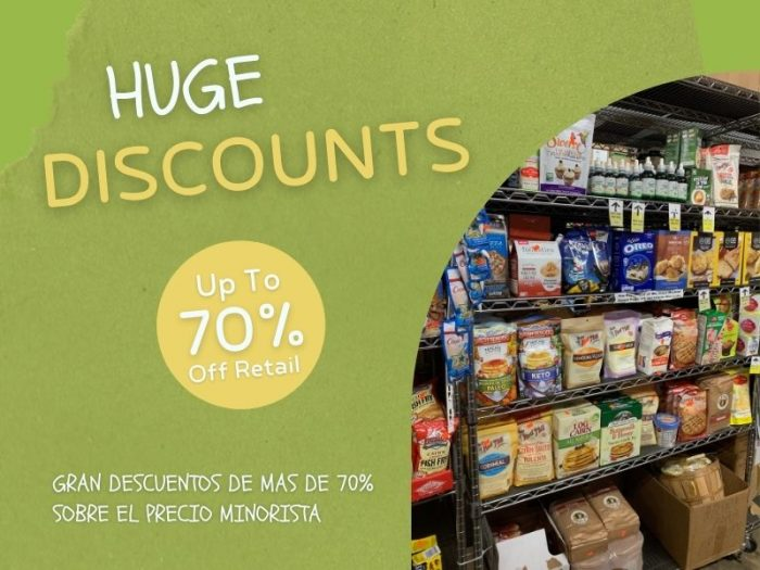 huge discounts on organic and gourmet food